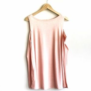 SO Tops - SO Peach pink Cold Shoulder top